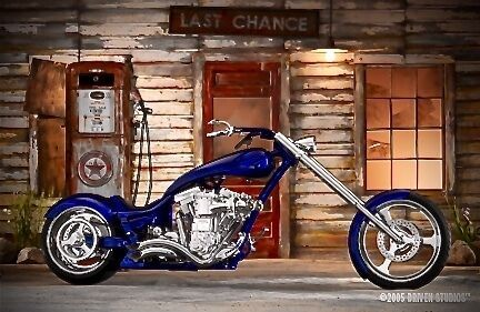 2005 Custom Built Motorcycles Chopper Blue for sale