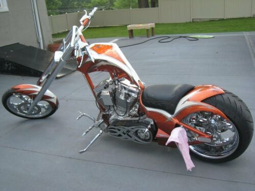 2005 Custom Built Motorcycles Chopper Orange for sale