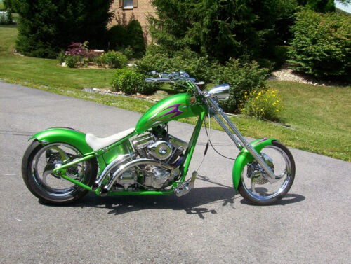 2005 Custom Built Motorcycles SOFTAIL GRANNY SMITH GREEN craigslist
