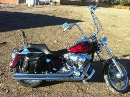 2005 Harley-Davidson Softail black cherry reverse candy red flames for sale craigslist