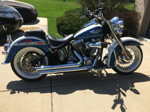 2005 Harley-Davidson Softail cobalt blue/ pearl white for sale craigslist
