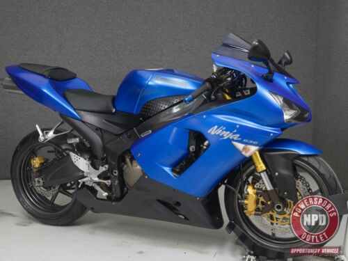 2005 Kawasaki Ninja ZX6R 636 CANDY PLASMA BLUE for sale