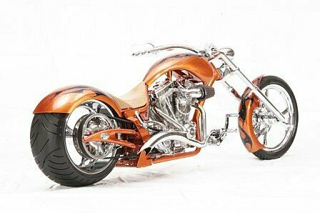 2006 Custom Built Motorcycles Chopper Orange for sale craigslist
