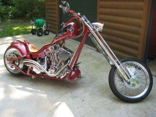 2006 Custom Built Motorcycles Chopper Red for sale craigslist