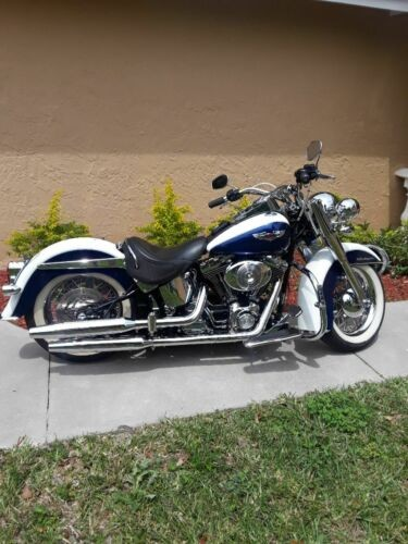 2006 Harley-Davidson Softail Pearl White and Blue for sale craigslist