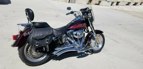 2007 Harley-Davidson FLSTF - Softail Fat Boy -- Black Cherry for sale