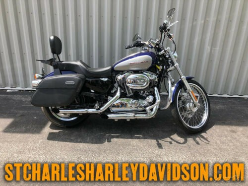 2007 Harley-Davidson Sportster XL1200C - 1200 Custom Blue/Silver for sale craigslist
