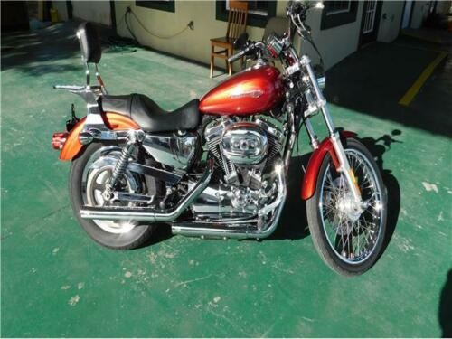 2008 Harley-Davidson XL1200c Motorcycle Red for sale