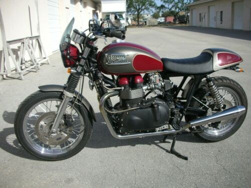 2008 Triumph Bonneville BURGANDY/SILVER for sale craigslist