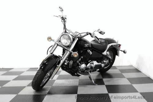 2008 Yamaha V Star VSTAR CLASSIC XVS650 COBRA PIPES HEEL TOE FLOORBOA Black for sale