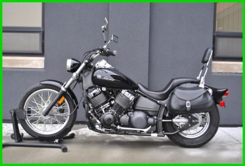 2008 Yamaha V Star VStar Classic 650 XVS65XB Black for sale