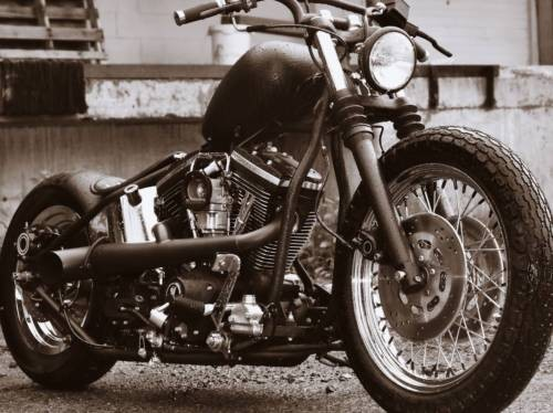 2009 Custom Built Motorcycles Bobber Black for sale craigslist