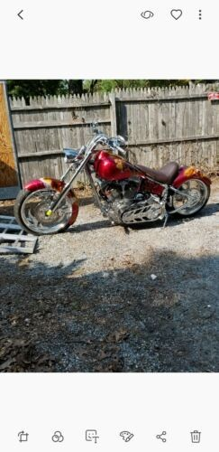 2009 Custom Built Motorcycles Pro Street Custom candy apple red with air brushed dragons for sale