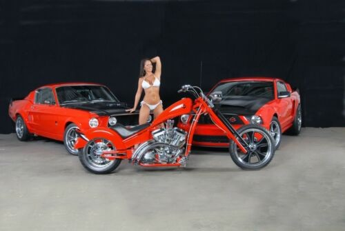 2009 Custom Built Motorcycles red rocker custom chopper Red for sale