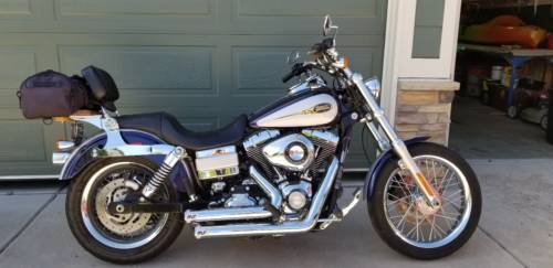 2009 Harley-Davidson Dyna Purple/Silver for sale