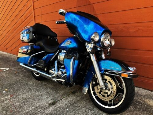 2009 Harley-Davidson Touring Black and Blue for sale