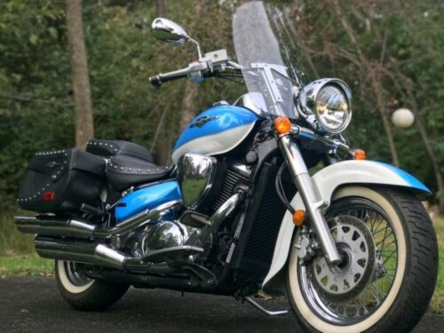 2009 Suzuki Boulevard TWO-TONE BLUE-WHITE for sale