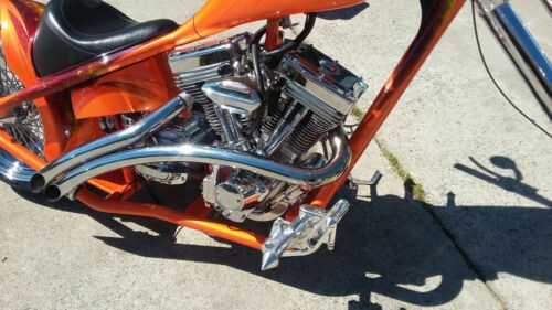2010 Custom Built Motorcycles Chopper Orange for sale