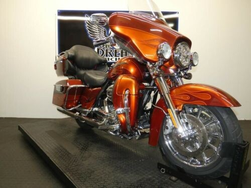 2010 Harley-Davidson FLHTCUSE5 - CVO Ultra Classic Electra Glide -- Burnt Amber/ Hot Citrus with Flame Graphics for sale craigslist