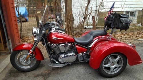 2010 Kawasaki Vulcan trike 900 Red for sale