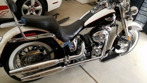 2011 Harley-Davidson Softail Deluxe Black/White 2-tone for sale craigslist