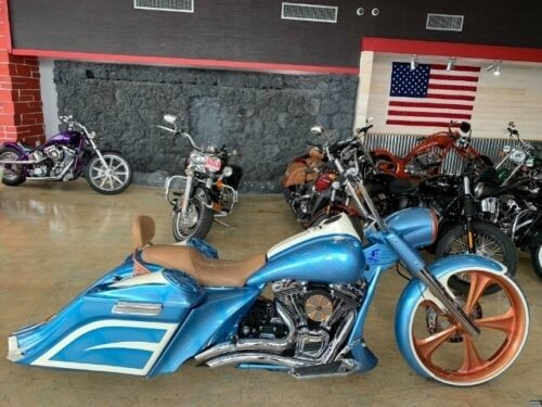"2011 Harley-Davidson Touring FLHR ROAD KING 26"" BIG WHEEL Blue for sale craigslist"