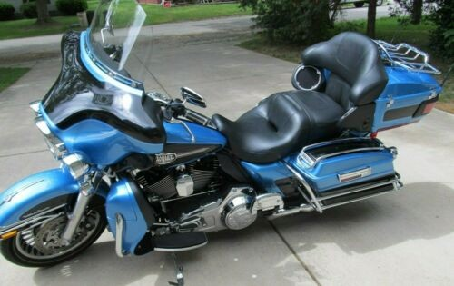 2011 Harley-Davidson Touring Cool Blue Pearl with Black for sale craigslist