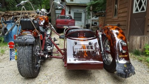 2012 American Classic Motors Custom Harley Davidson Merlot True Fire Flames for sale craigslist