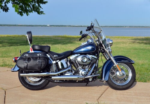 2012 Harley-Davidson Softail Big Blue Pearl with White Hot Pearl Pinstripe for sale