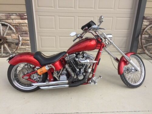 2013 Custom Built Motorcycles Chopper Red for sale craigslist