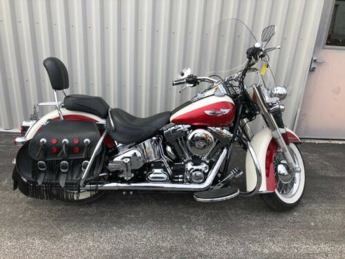 2013 Harley-Davidson Softail Flstn  Deluxe White/Red for sale craigslist