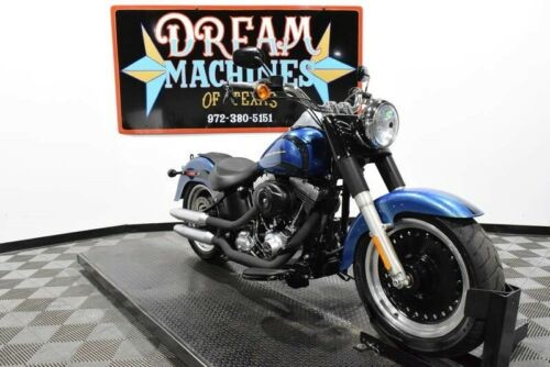 2014 Harley-Davidson FLSTFB - Softail Fat Boy Lo -- Blue for sale