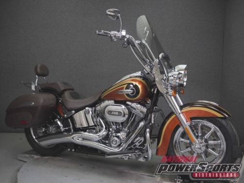 2014 Harley-Davidson FLSTNSE CVO SOFTAIL DELUXE W/ABS MAPLE METALLIC/ATOMIC ORANGE for sale