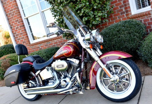 2014 Harley-Davidson Softail Deluxe CVO Crimson Red Sunglo and Ruby Red Flake for sale