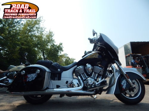 2016 Indian Chieftain® Star Silver and Thunder Black -- Black for sale