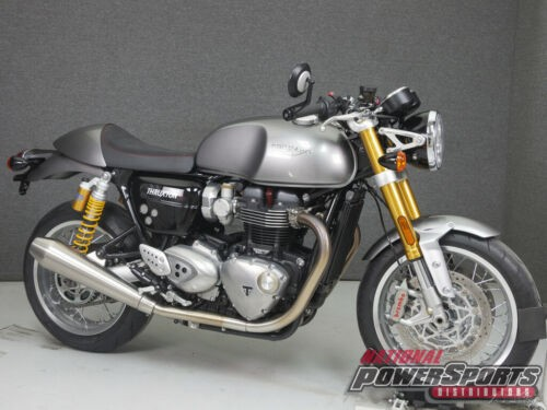 2016 Triumph THRUXTON R SILVER ICE for sale craigslist