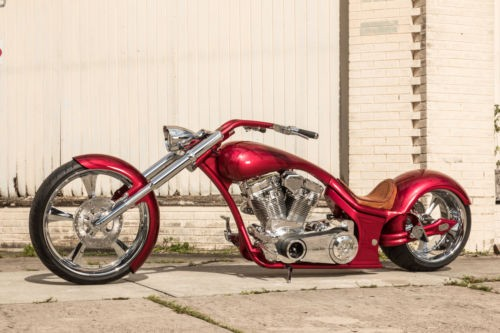 2018 Custom Built Motorcycles Chopper candy apple red/black graphics craigslist