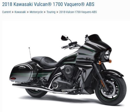 2018 Kawasaki Vaquero VN1700KJF Black for sale craigslist