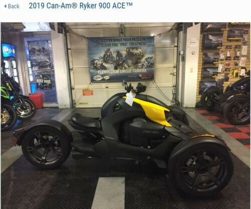 2019 Can-Am Ryker 900 ACE -- Black for sale