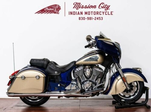 2019 Indian Chieftain® Classic Deep Water Metallic / Dirt Trac -- Tan for sale