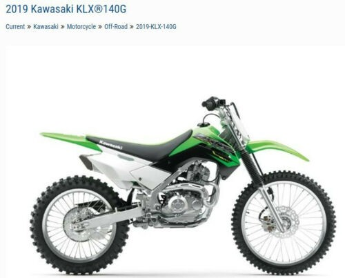 2019 Kawasaki KLX 140G -- Green for sale craigslist