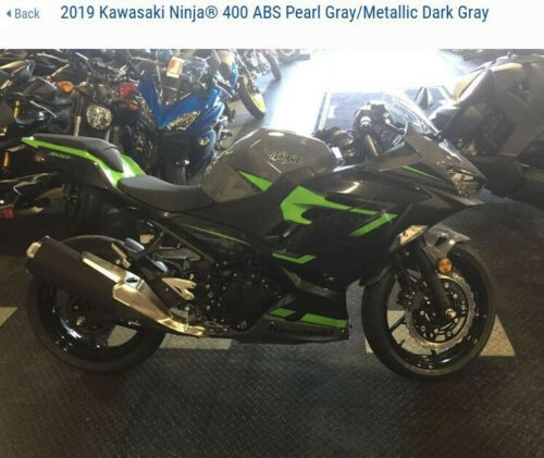 2019 Kawasaki Ninja 400 ABS EX400GKFB Gray for sale