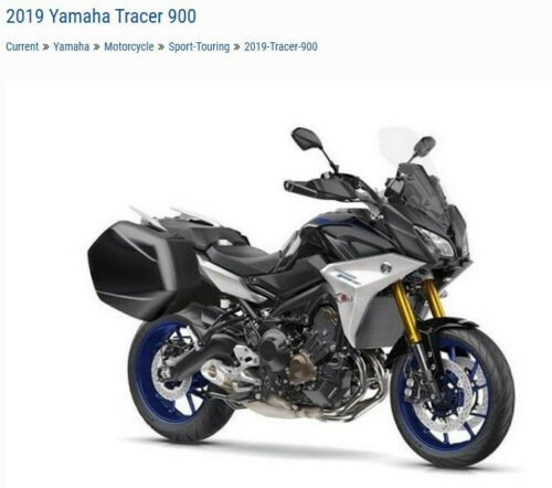 2019 Yamaha Tracer 900 GT -- Silver for sale