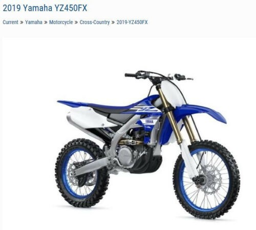 2019 Yamaha YZ450FX YZ450FXK Blue for sale