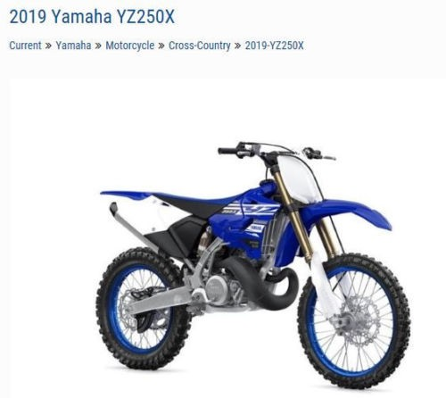 2019 Yamaha Yamaha YZ250X YZ250XK Blue for sale craigslist