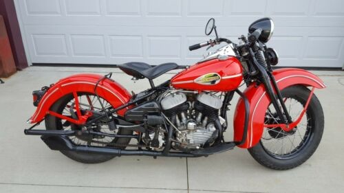 1946 Harley-Davidson WL Flathead Red for sale