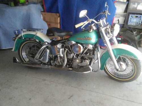 1958 Harley-Davidson Touring Pearl White and Green for sale