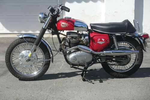 1968 BSA A65 Firebird Scrambler Red for sale