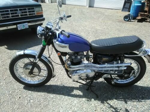 1970 Triumph Trophy Blue Alaskan white for sale