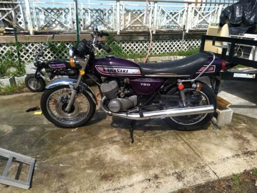 1975 Kawasaki 750 H2 ..H2c Purple for sale craigslist